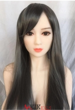 Linen gray long hair
