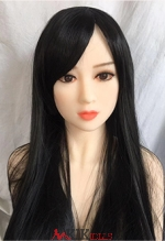 Long black straight hair