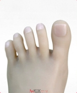 Natural color toenails