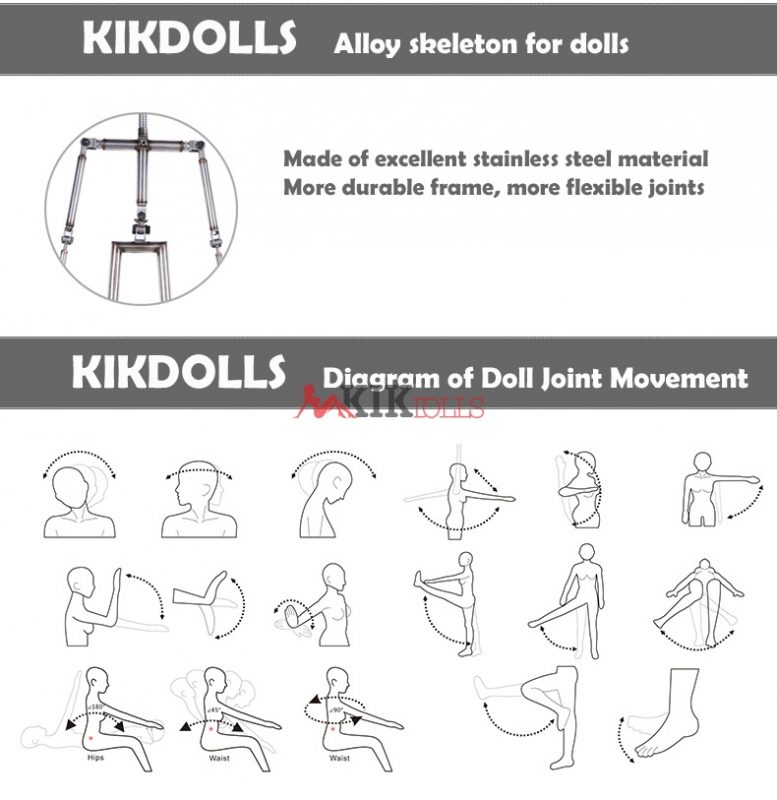 Sex Doll joint movement diagram