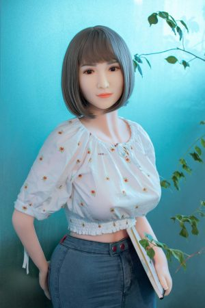 Amia - 158cm Asian sexy office white-collar female silicone doll new
