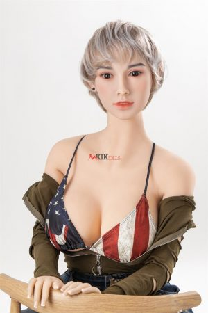Keyla - 158cm real life Short hair sexy American girl silicone sex doll