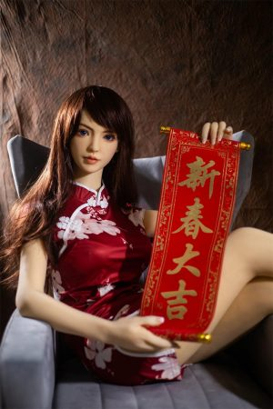 Angie - 158cm realistic asian sex doll Spring Festival holiday dress